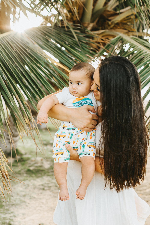 Mom and Baby Hawaiian Photoshoot