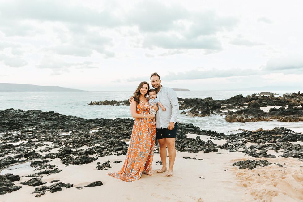 6 Month Milestone Family Session | Maui Family Photo Session | Makena Cove