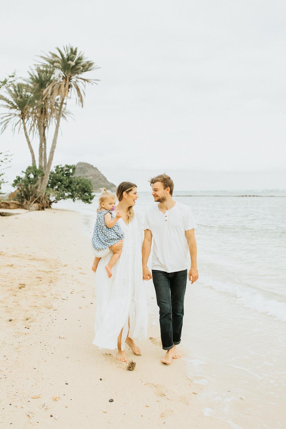 Sunset Session in Kualoa | Oahu Family Photography | Marissa HB Photography - Hawaii