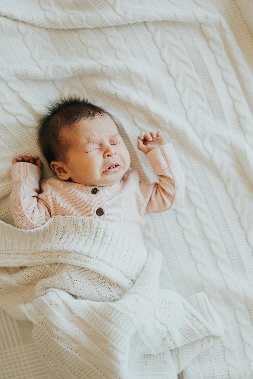 Adorable Newborn Baby Sneezing