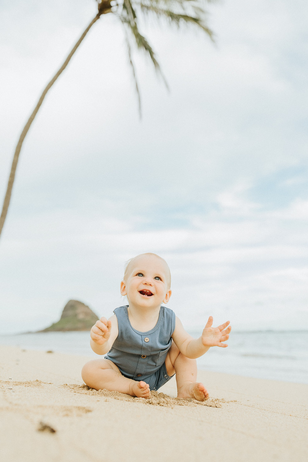 Family Beach Photo Session at Kualoa Beach on Oahu | Oahu Family Photographer