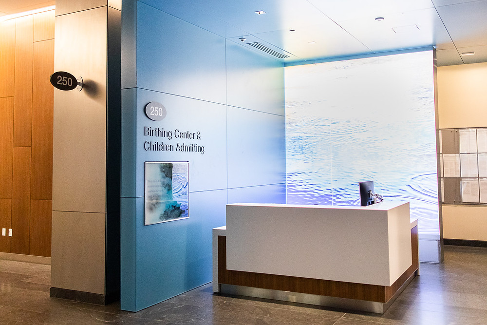 Birthing Center Admitting Desk at CPMC Van Ness Campus