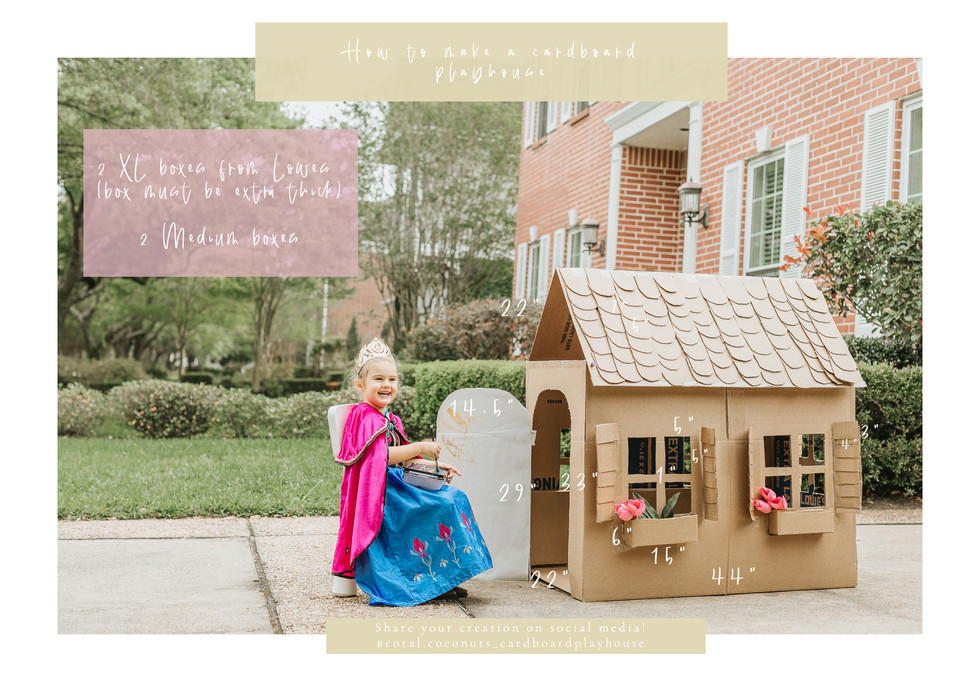 Social Distancing DIY Art Project | How to make a cardboard playhouse
