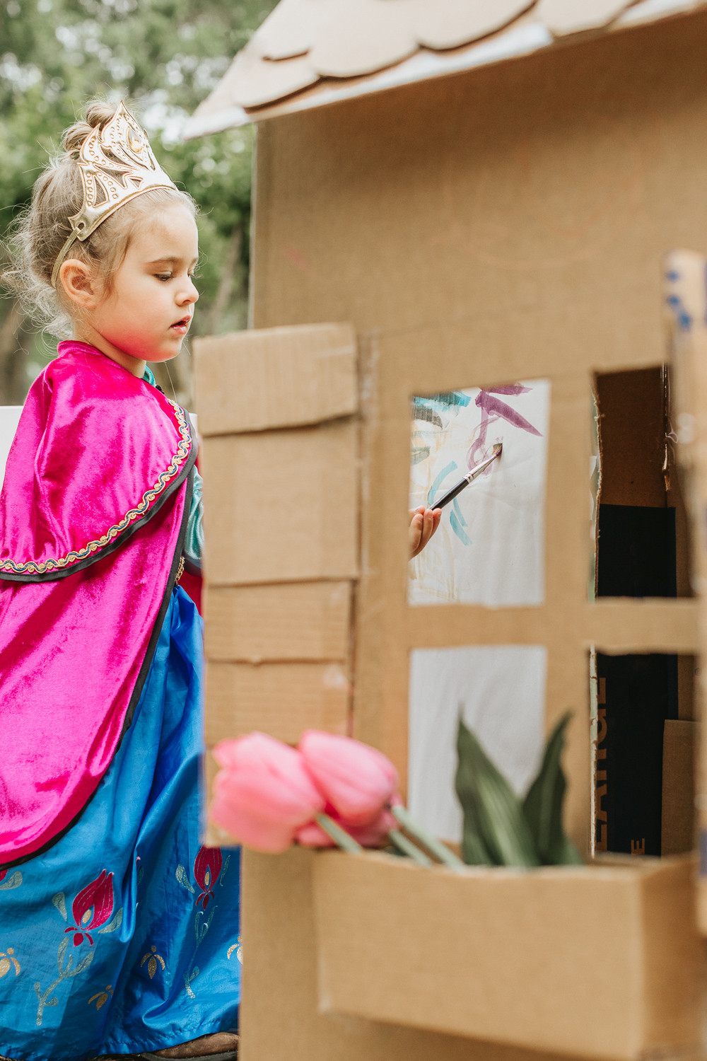 Kids Art Project with Cardboard Box