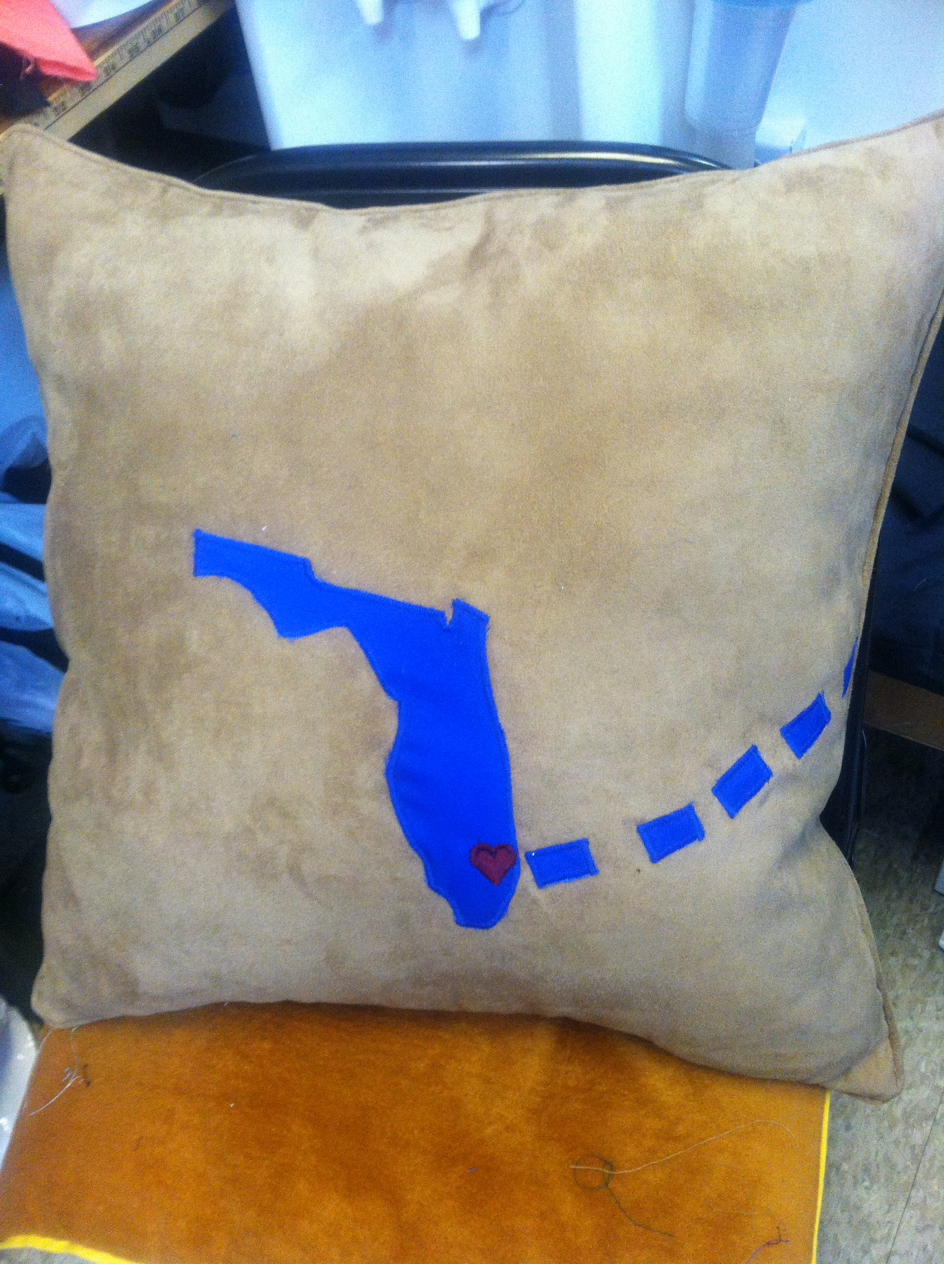 Hand-made Welcome-Home Throw Pillow