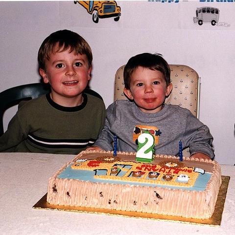 2000 Ethan celebrates turning 2