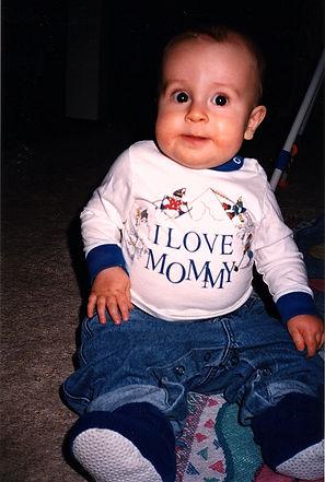 1995-11-23 Baby Luke at his Mom's 29th b