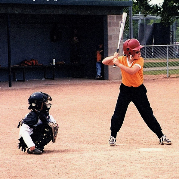 2004 Father's Day  - Sunday and Luke's at bat