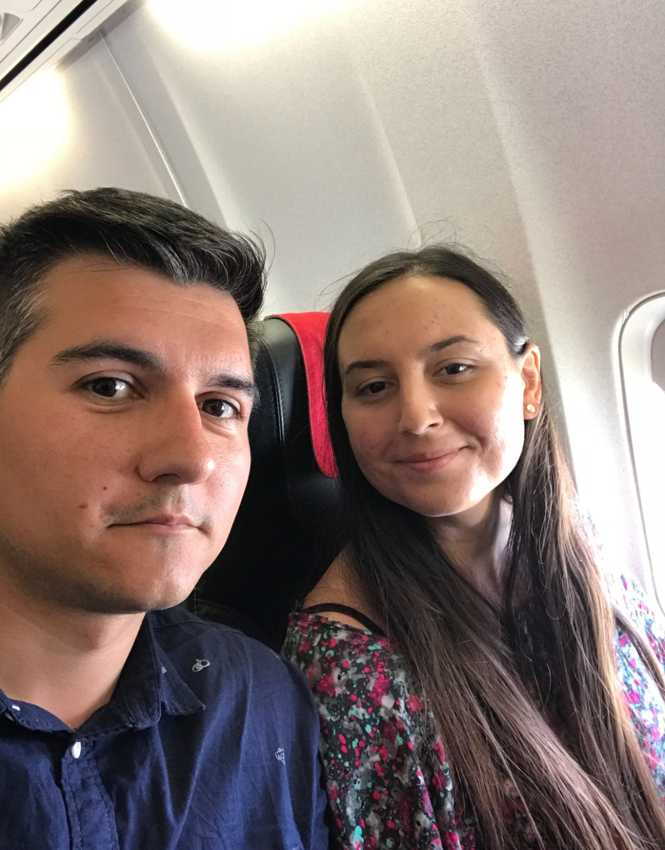 În avion:)