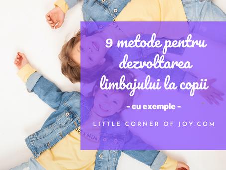 9 exerciții pentru dezvoltarea limbajului copiilor (cu exemple)