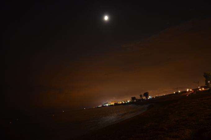 Plaja Santa Suzana noaptea