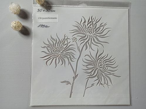 Chrysanthemums sjablong
