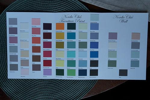 Håndmalte fargekart