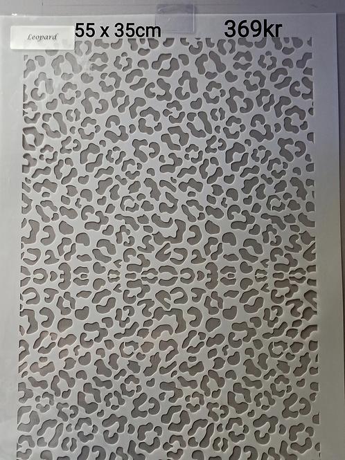 Leopard sjablong