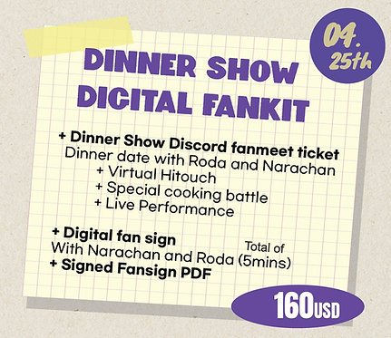 Dinner Show Digital Fankit