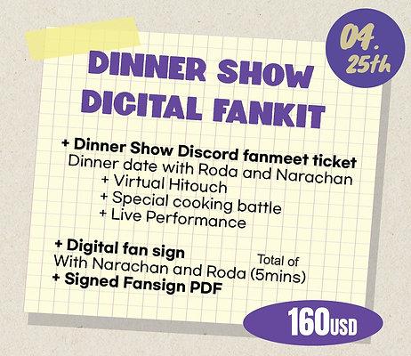 Dinner Show Digital Fankit