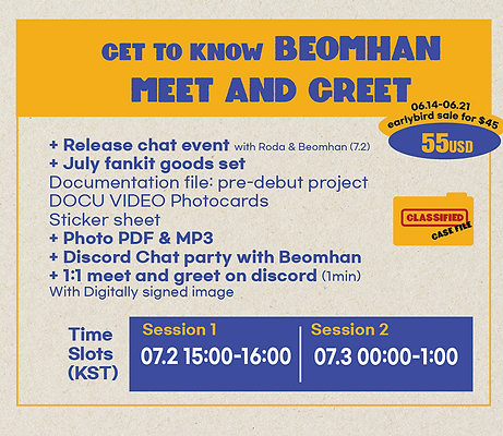 Get to know Beomhan Meet and Greet