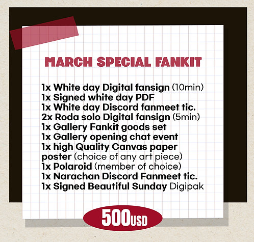 March Special Fankit