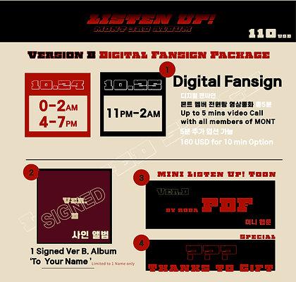 Version B Digital Fansign Package