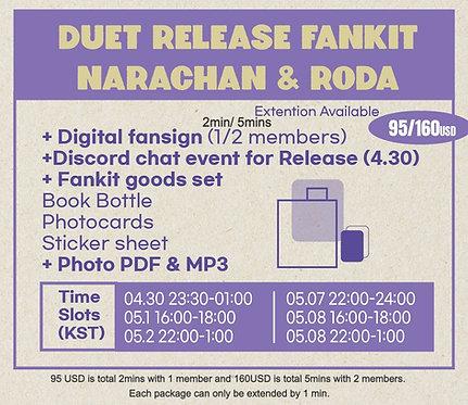 DUET release Fankit (NARACHAN , RODA D.F)