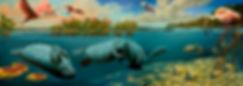 Manatee painting