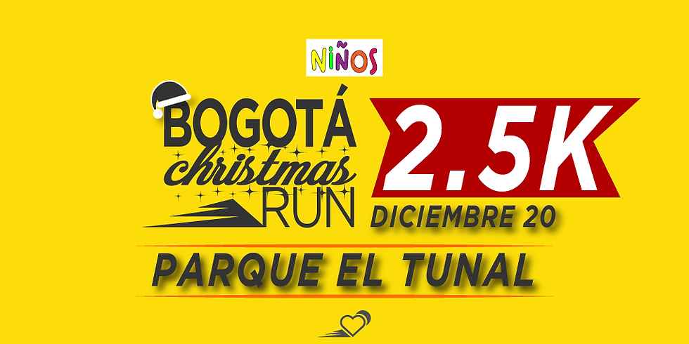 Parque El Tunal - 2.5K - 20 DIC - 11:30 am - Carrera para niños hasta 16 años