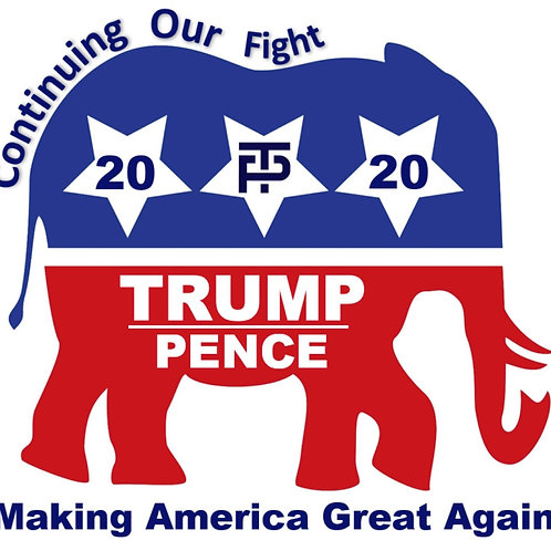 TRUMP - PENCE 2020 Decal by Check Custom Design
