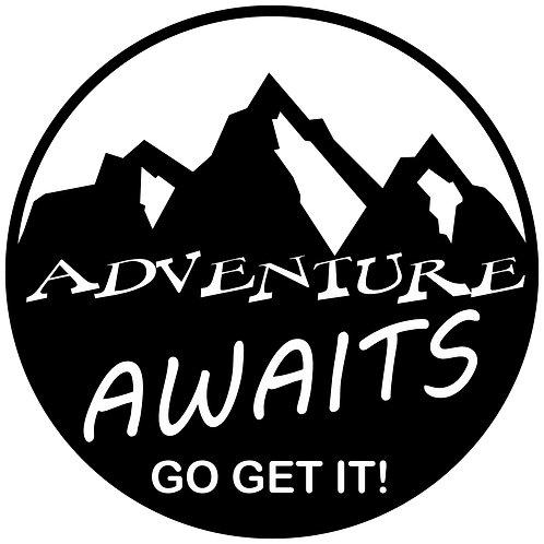 Adventure Awaits Go Get It Decal