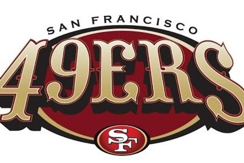 San Fransico 49ers (SF) Vinyl Sticker