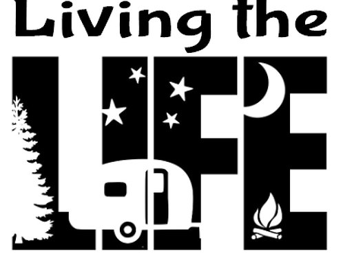 Living the Life Decal by Check Custom Design