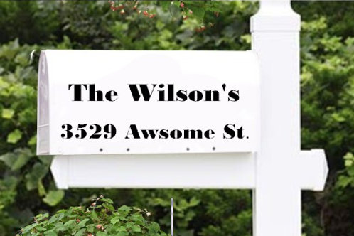 Mailbox Lettering - Address Lettering Decal