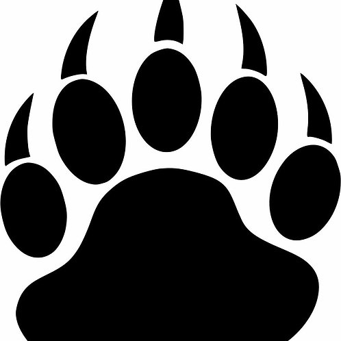 Grizzly Bear Claw Decal