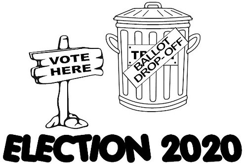 Election 2020 - Mail-in Ballot Drop Off Can Decal by Check Custom Design