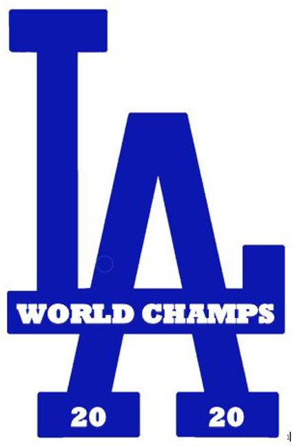 Los Angeles Dodgers World Series Championship  2020 Decal