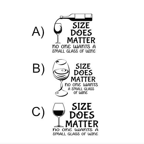 wine glass decal