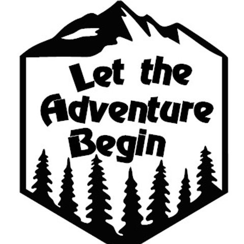 Let The Adventure Begin Badge Decal