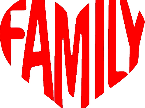 Family Heart Decal