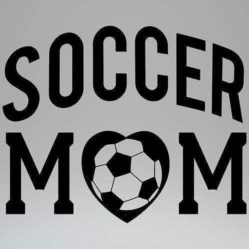 Soccer Mom W/Heart Ball Decal