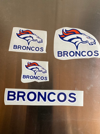 Broncos Custom Vinyl Stickers