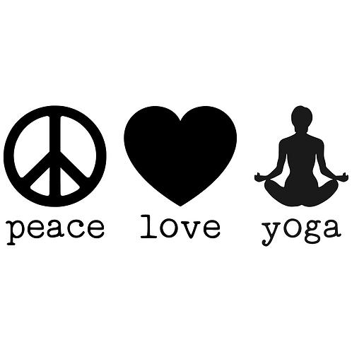 Peace - Love - Yoga Decal
