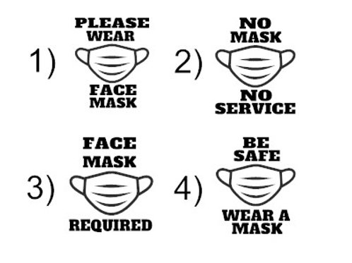 Face Mask Required Decal / COVID-19 Store Sign