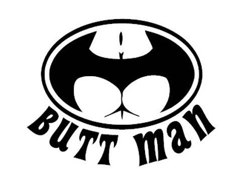 Butt Man Decal