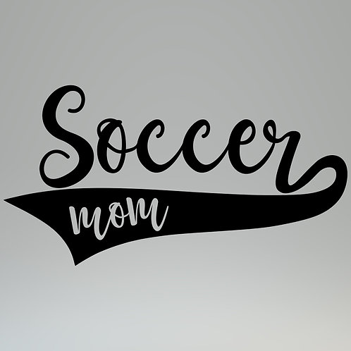 Soccer Mom W/Banner Decal