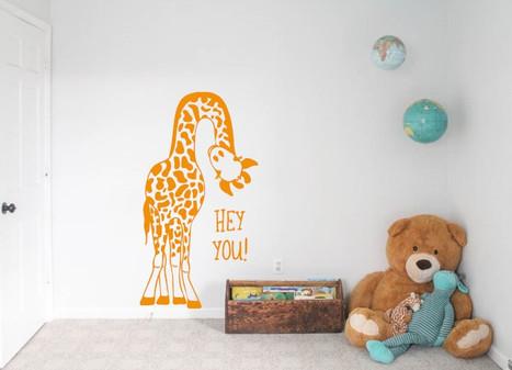 Window Decals and Custom Wall Designs Animal Giraffe
