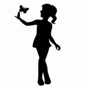 Little Ballerina with Butterfly Decal