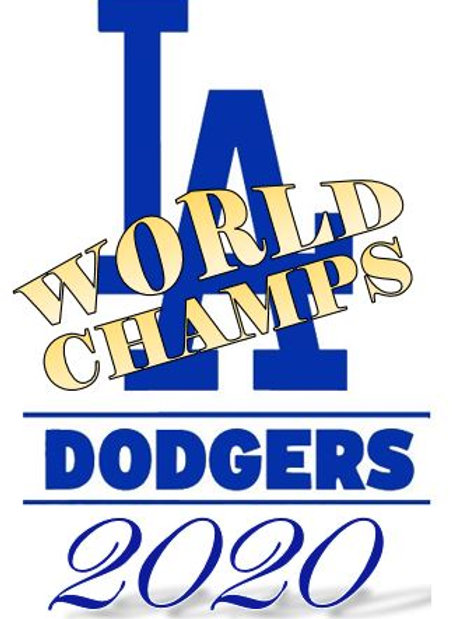 Los Angeles Dodgers Wold Series Chamionship 2020 Vinyl Sticker