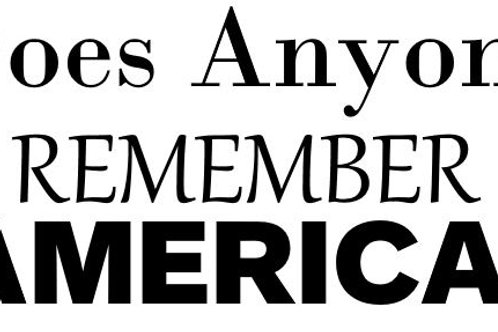 Does Anyone Remeber America Decal