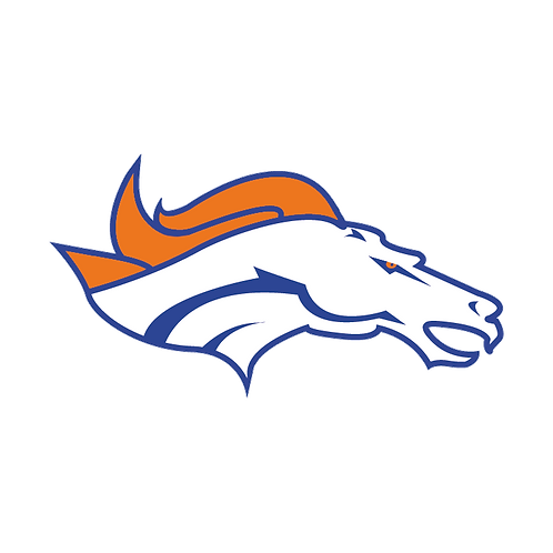 Broncos (Head Only) Vinyl Sticker