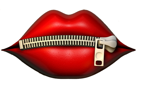 Set of Lips with Zipper Vinyl Sticker