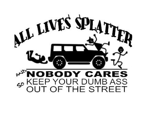 All Lives Splatter Decal
